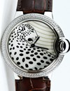 Cartier Pasha Leopard Dial Lady Diamonds